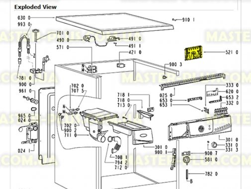 Модуль (плата) Whirlpool 481221479952 для стиральной машины