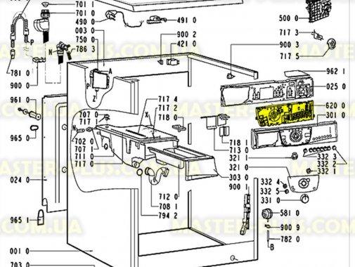Модуль (плата) управління Whirlpool 481223958002 для пральної машини