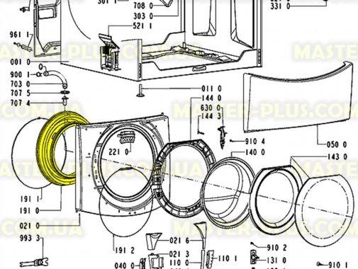 Резина (манжет) люка Whirlpool 481231018865 для стиральной машины