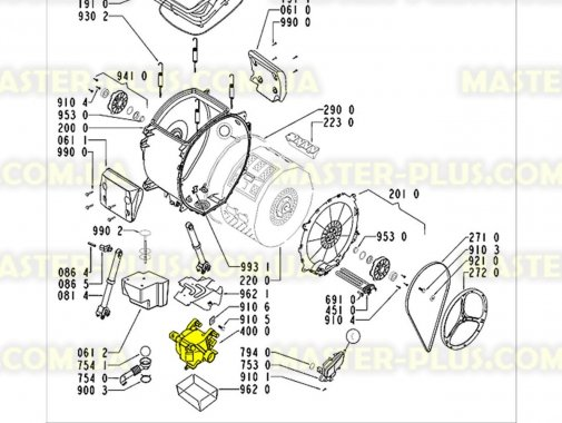 Мотор Whirlpool Motor AC2 MCA38 для стиральной машины