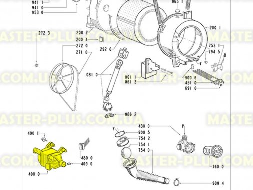 Мотор Whirlpool 481236158439 для стиральной машины