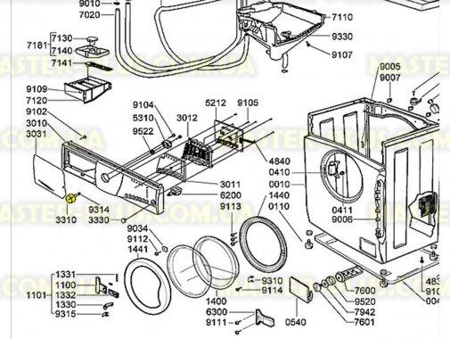 Ручка переключения программ  Whirlpool  481241318307 для стиральной машины