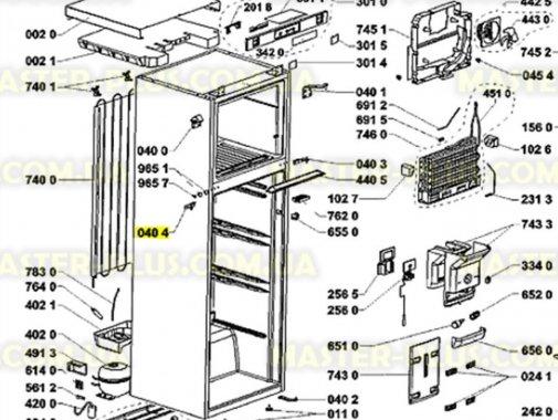 Купить Петля средняя (левая) Холодильника Whirlpool 481241719436