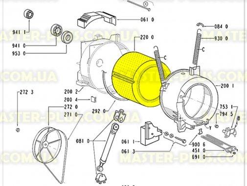 Барабан с крестовиной Whirlpool  481241818579 для стиральной машины