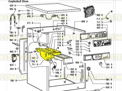 Бункер (дозатор) для порошка Whirlpool 481241868321 для стиральной машины