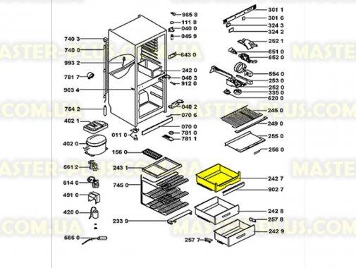 Ящик морозильной камеры (верхний) Whirlpool 481241879837 для холодильника