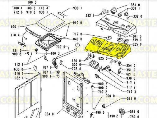 Внутренняя панель Whirlpool  481244010535 для стиральной машины
