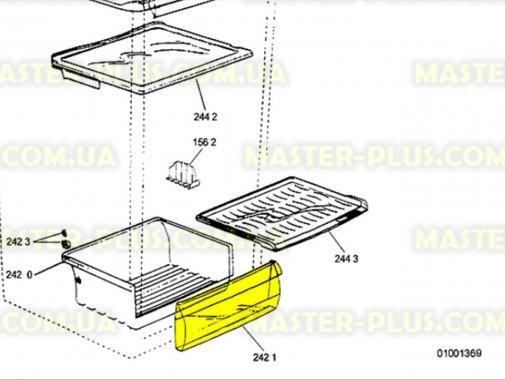 Передняя крышка ящика для овощей Whirlpool 481244229168 для холодильника