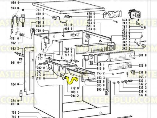 Патрубок от порошкоприемника к баку Whirlpool 481253048141  для стиральной машины