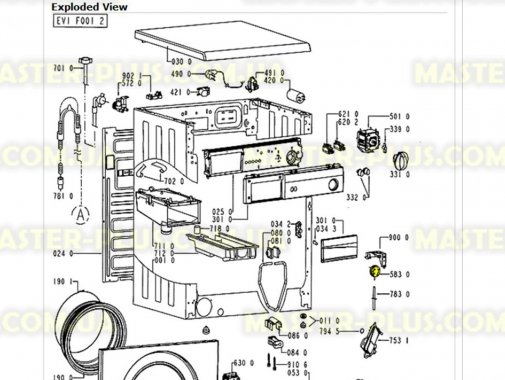 Прессостат (датчик уровня воды) Whirlpool 481927129082 для стиральной машины