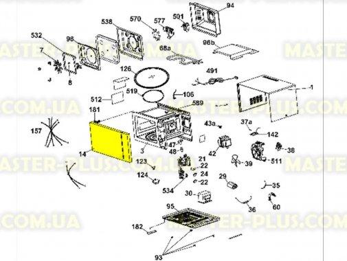 Дверка микроволновой печи Candy 49017173 для микроволновой печи