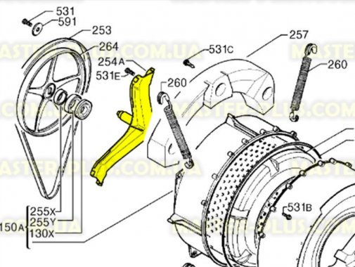 Крестовина барабана Zanussi 50239967008 для стиральной машины