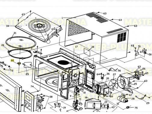 Куплер (грибочек) Electrolux 50283958002 для микроволновой печи
