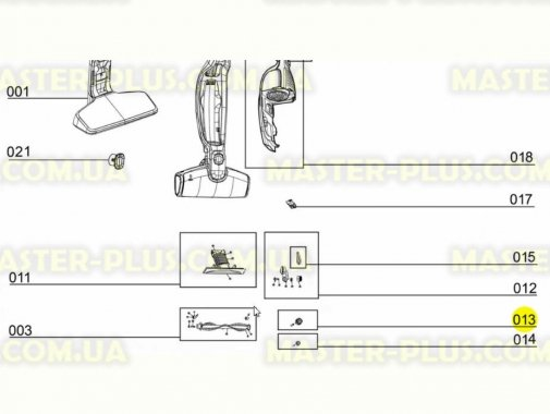 Купить Колесо ступицы для щетки пылесоса Electrolux 50297086006