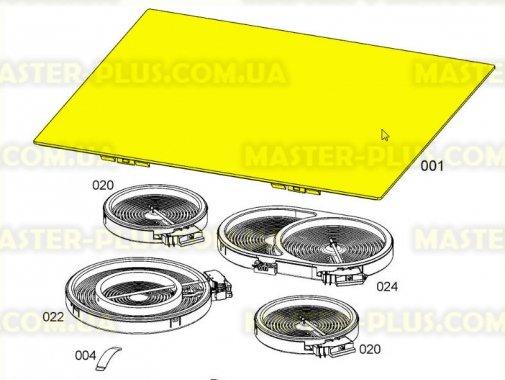 Стеклокерамическая поверхность плиты Electrolux 5617348114 для плиты и духовки