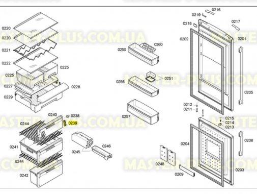 Купить Крепеж передней панели морозильного отделения Bosch 607910, Bosch Siemens