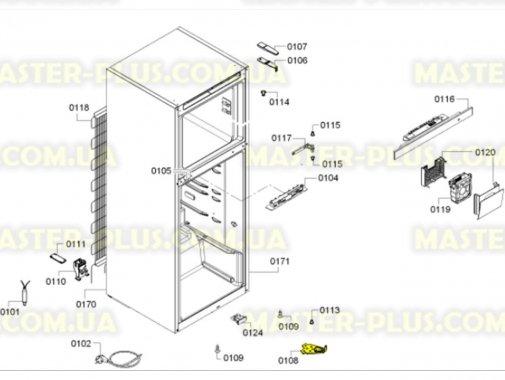 Купить Петля (кронштейн) нижняя левая двери для Холодильника Bosch Siemens 622590