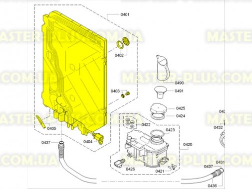 Купить Бачок подачи воды Bosch Siemens 687133