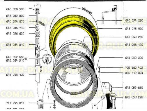 Резина (манжет) люка Electrolux Zanussi AEG 645075991 Original для стиральной машины