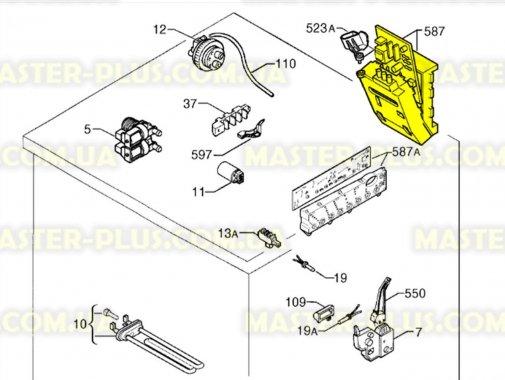 Модуль (плата) Zanussi 973914756510009 для стиральной машины