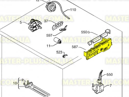 Модуль (плата) Zanussi 973914780900044 для стиральной машины
