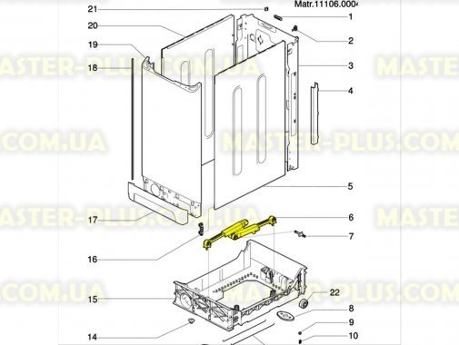 Амортизатор плоский 120N Indesit C00083787 для пральної машини