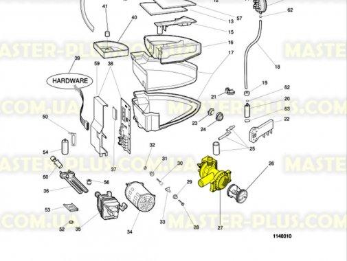 Насос (помпа) Indesit Ariston с корпусом (Китай) для стиральной машины