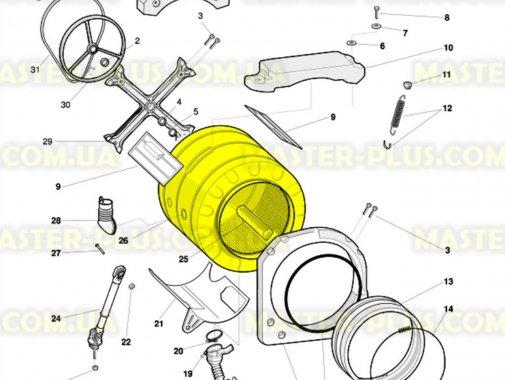 Бак в сборе с барабаном  Indesit C00094290 для стиральной машины