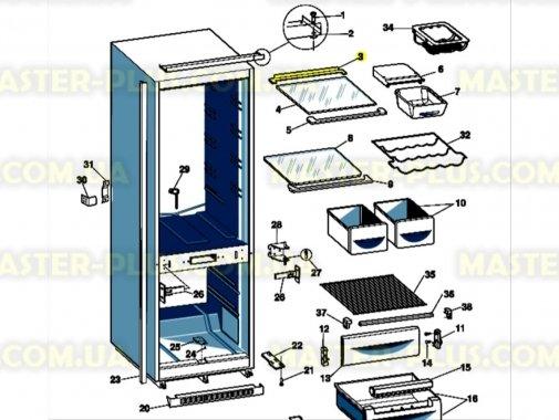Купить Обрамление полки (заднее) Indesit C00144354