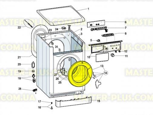 Дверка (люк) Indesit C00270980 для стиральной машины