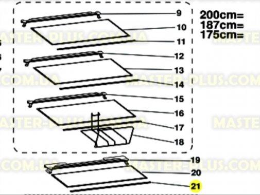 Обрамление стеклянной полки (передннее) Indesit C00285943 для холодильника