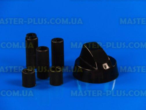 Ручка плиты универсальная (черная) + 5 переходников для плиты и духовки