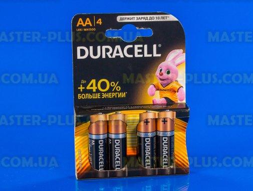 Батарейка Duracell AA (LR06) MN1500 4шт (5000394052536 / 81551270) для ремонта и обслуживания бытовой техники