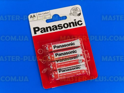 Батарейка Panasonic Red Zinc AA BLI 4шт Zinc-Carbon (R6REL/4BPR)   для ремонта и обслуживания бытовой техники