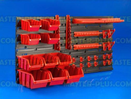 Стенд перфорированный (пластиковый) для инструмента NTBNP4 800*400мм с лотками и крючками для ремонта и обслуживания бытовой техники