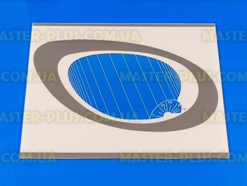 Наружное стекло для плиты GRETA 498х384мм (белое с овалом) для плиты и духовки