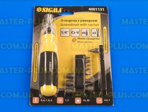 Купить Набор бит с держателем и трещоткой 13шт Sigma 4001131
