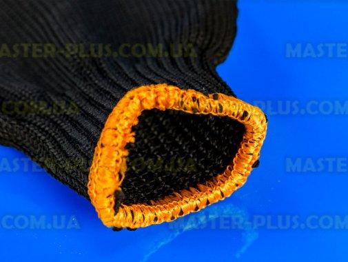 Перчатки трикотажные черные с ПВХ точкой (7 класс, 2 ниток)