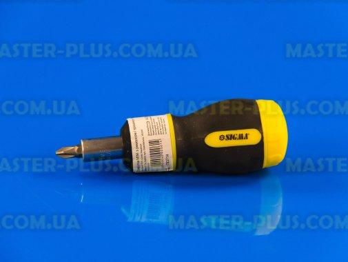 Отвертка реверсивная с насадками 6шт Sigma 4002061 для ремонта и обслуживания бытовой техники