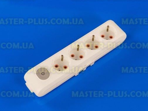 Купить Колодка на 4 розетки с заземлением и выключателем Viko Multi-Let