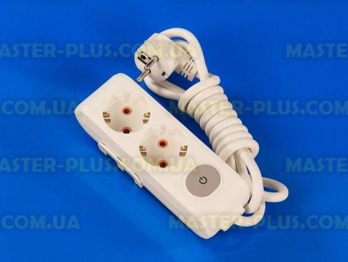 Купить Фильтр сетевой (удлинитель) на 2 розетки 2м с заземлением и выключателем Viko Multi-Let