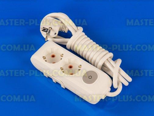 Купить Фильтр сетевой (удлинитель) на 2 розетки 3м с заземлением и выключателем Viko Multi-Let