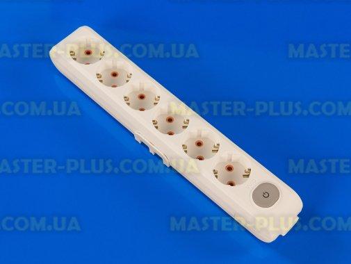 Купить Колодка на 6 розеток с заземлением и выключателем Viko Multi-Let