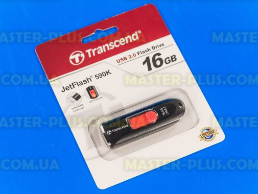 USB флеш накопитель Transcend 16Gb JetFlash 590 (TS16GJF590K) для компьютера