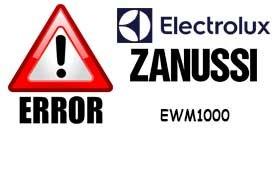 Коды ошибок стиральных машин ELECTROLUX и ZANUSSI с системой управления EWM1000 (+)