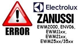 Сервисные коды (коды ошибок) стиральных машин ZANUSSI и ELECTROLUX с системой управления EWM2000, ENV06, EWM11xx, EWM21xx, EWM25xx/35xx