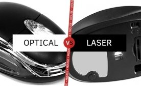Відмінність між лазерної та оптичної комп'ютерною мишею.