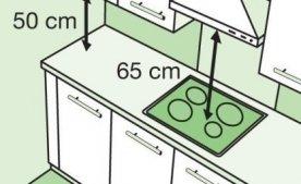 На какой высоте от плиты вешать вытяжку: основные правила