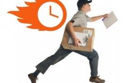 Заказы переведенные на отправку до 15:00 отправляются в этот же день